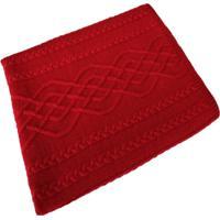 Manta Tricot Decorativa Cama Sofá 120Cm X 150Cm Cod 1026.5 Vermelho