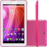 """Tablet M7I-3G Quad 8Gb 7"""" Gps Rosa Multilaser - Nb246"""