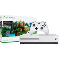 Xbox One S 1Tb Branco Com Minecraft 234-00511 Console Microsoft
