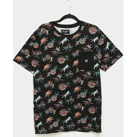 Camiseta Billabong Chicama Floral Masculina - Masculino-Preto