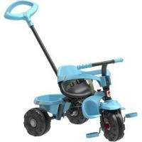 Triciclo Infantil Smart Plus Com Empurrador - Unissex-Preto+Azul