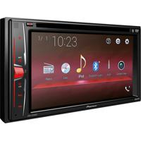 "Dvd Player Automotivo Pioneer 6.2"" Avha208Bt Preto/Led"