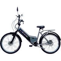 Bicicleta Elétrica Machine Motors 350W 36V Prata/Preto