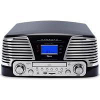 Toca Discos Raveo Harmony Vintage Anos 50 Preto Bluetooth Usb E Sd Fm