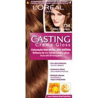 Coloração Permanente Casting Creme Gloss N° 734 Mel Dourado L'Oréal 1 Unidade