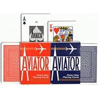 Baralho Aviator Standard Vermelho E Azul - (Par) - Unissex