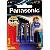 Pilhas Panasonic Aaa Alcalina Premium Leve 4 Pague 3