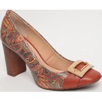 Sapato Tradicional Em Couro Com Aviamento- Marrom & Larajorge Bischoff