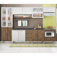Cozinha Compacta Genialflex Emanuella Demolição E Gelo 3D Com Tampo