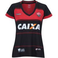 Camisa Do Vitória I 2018 Topper - Feminina - Preto/Vermelho