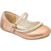 Sapato Boneca Com Strass - Cobre- Luluzinhaluluzinha
