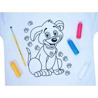 Pintura Em Camiseta Kits For Kids Modelo Cachorro Multicolorido
