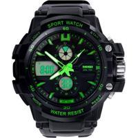 Relógio Skmei Anadigi 0990L Verde