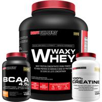 Kit Waxy Whey 2Kg Chocolate Bcaa 4,5G 100G 100% Creatine 100G – Bodybuilders