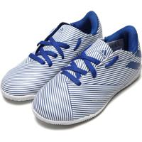 Chuteira Adidas Performance Menino Nemeziz 19 4 In Jr Azul/Branca