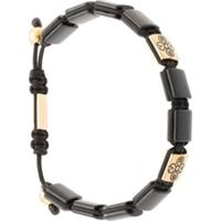 Nialaya Jewelry Pulseira Com Olho De Tigre - Preto