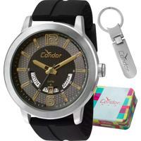 Kit Relógio Condor Masculino Com Chaveiro Co2115Uu/K8P