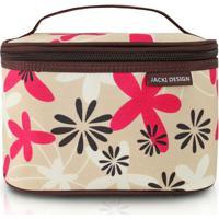 Necessaire Frasqueira - Jacki Design - Feminino-Bege+Rosa