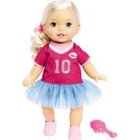 Boneca Bebê - Little Mommy - Doce Bebê - Loira - Vestido Rosa Com Babado Nº10 - Mattel