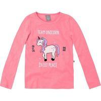 "Blusa ""Team Unicorn""- Rosa & Brancahering"