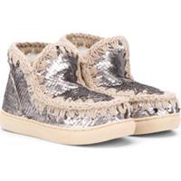 Mou Kids Sequin Eskimo Sneakers - Prateado