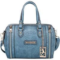b961c38fa Farfetch; Bolsa Satchel Fellipe Krein Feminino - Feminino-Azul
