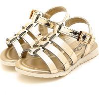 Sandália Klin Flat Baby Dourado