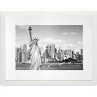 Quadro Estátua Da Liberdade Kapos Branco 43X33Cm