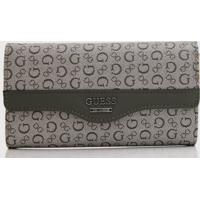 Carteira Guess Letters Cinza/Verde