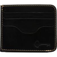 Carteira Porta Cartão Key Design - Wallet Card Holder - Black - Masculino-Preto