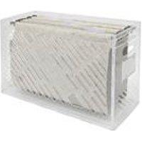 Caixa Arquivo Delloeco Cristal Com 6 Pastas Ecologicas Dello