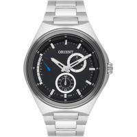 Relógio Orient Masculino Mbssm085 P1Sx Pulseira E Caixa Aço Prateado Mostrador Preto