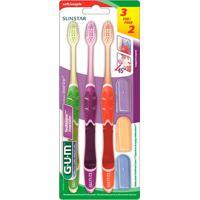 Kit Escova Dental Gum Deep Clean 3 Unidades + Capa
