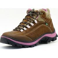 Bota Atron Shoes Adventure Rosa Castor - Feminino