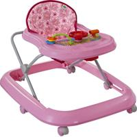 Andador Musical Toy Primeiros Passos Até 15Kg Tutti Baby Rosa Carinhoso 02003.16