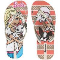 Chinelo Infantil Barbie - Feminino-Bege