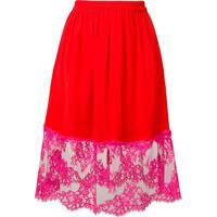 Msgm A-Line Midi Skirt - Vermelho