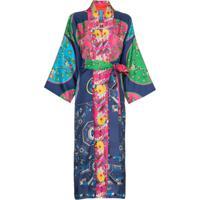 Rianna + Nina Kimono Estampado De Seda