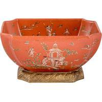 Vaso De Porcelana E Bronze Iii- Linha Colonial