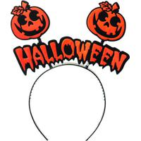 "Tiara ""Halloween"" Com Abã³Boras- Laranja & Preta- 20Xcromus"