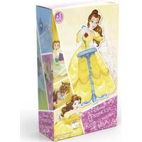 Quebra-Cabeça Com Contorno - Disney - Princesas - Bela - Grow - Feminino-Incolor