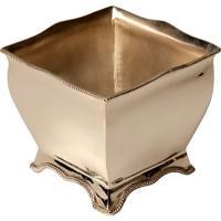 Vaso Decorativo Quadrado De Prata Guinardo