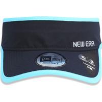 "Viseira ""New Era""- Preta & Azul Claro- New Eranew Era"