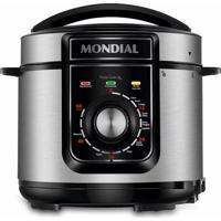 Panela De Pressão Elétrica Mondial Pratic Cooker 5 Litros Premium Pe-48-5L-I Inox