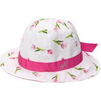Monnalisa Chapéu Com Estampa Floral - Rosa