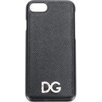 Dolce & Gabbana Capa Para Iphone 7 De Couro Com Logo - Preto