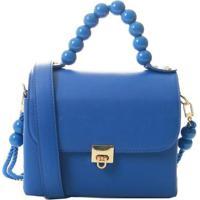 Bolsa Biro 2446 Maleta Sint Alça Det Bolinha 1078999 - Feminino-Azul