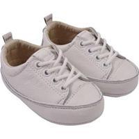 Tênis Infantil Couro Catz Calçados Noody Cadarço - Unissex-Branco