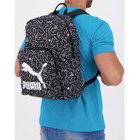 Mochila Puma Originals Backpack Estampada Preta