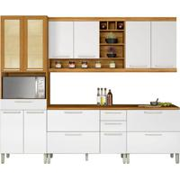 Cozinha Compacta Burguesa 11 Pt 5 Gv Branca E Freijó